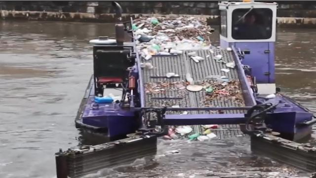 These trash collector machines help to collect trash and clean the rivers