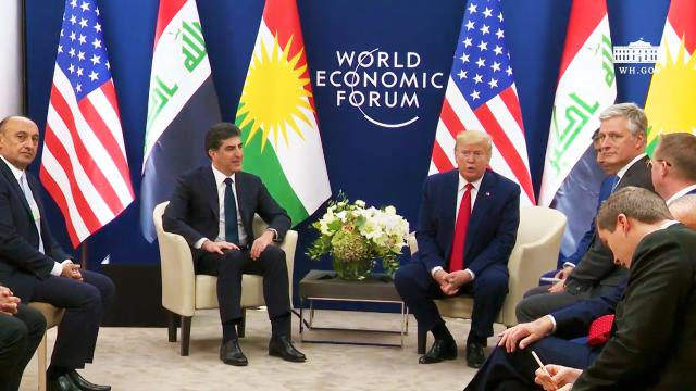 President Trump participates in a Bilateral Meeting with the President of Kurdistan