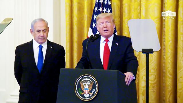President Trump delivers joint remarks with the Prime Minister of the State of Israel