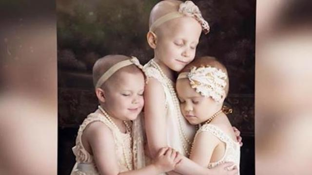 Three girls fighting cancer took this photo four years ago. The update broke my heart