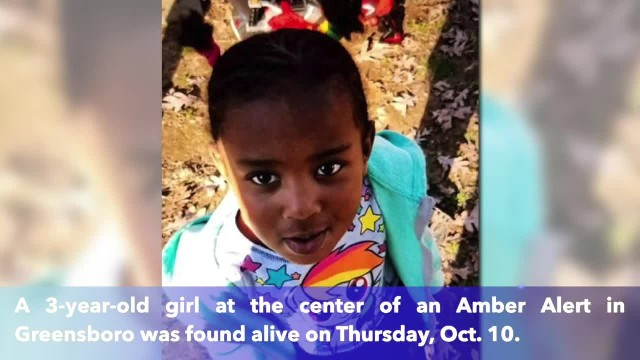 3-year-old girl in Greensboro Amber Alert found alive, reunited with family
