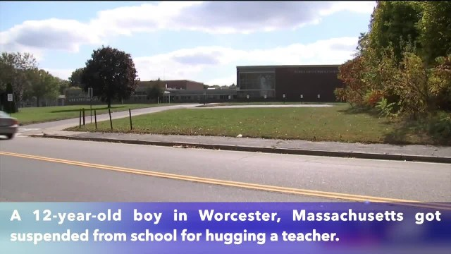 12-year-old boy in Massachusetts suspended from school for hugging teacher