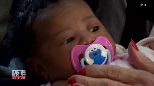 Airline refuses to let dad and newborn on flight, elderly nurse says 'You're coming home with me'