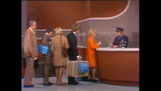 Harvey Korman loses it when Tim Conway pulls his underwear out in funniest airline security skit in