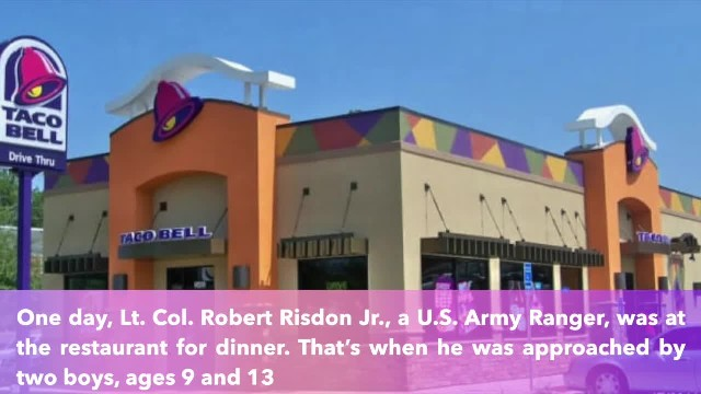 Soldier buys dinner for 2 hungry boys at Taco Bell after learning they were hungry