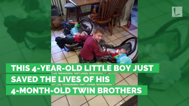 This 4-year-old little boy just saved the lives of his 4-month-old twin brothers