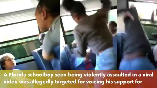 Video Young boy brutally beaten on school bus over his support for President Trump(1)