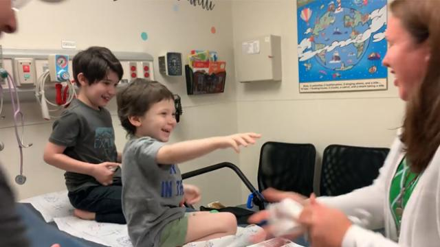 5-yr-old has cutest celebration with big brother after being declared cancer-free