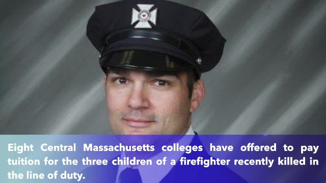 Worcester colleges offer free tuition to fallen firefighter's 3 children