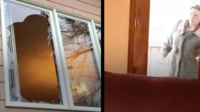 Couple discovers home was broken into only unusual 'intruder' leaves everyone in stitches