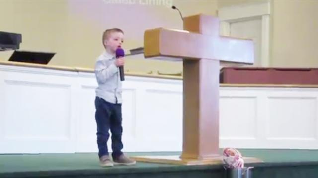 Five-year-old boy singing 'Open The Eyes of My Heart Lord' will touch your heart