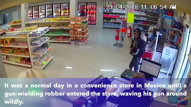 Armed robber points gun at cowboy- It ended up being a big mistake