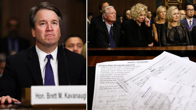 Justice Kavanaugh, he suffered needlessly by vicious people.