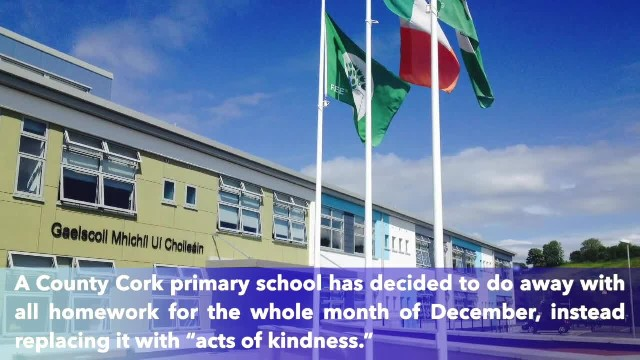Irish school replaces homework with acts of kindness