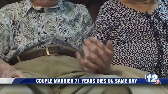 Til death do us part husband and wife married for 71 years die on the same day