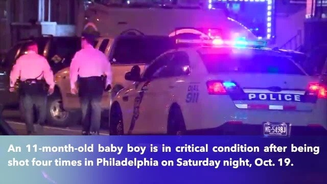 11-month-old boy shot 4 times in Philadelphia, in critical condition