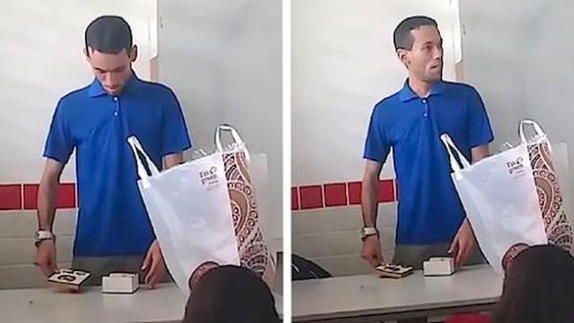 Beloved teacher doesn't think students know he's homeless until he opens box they put on desk