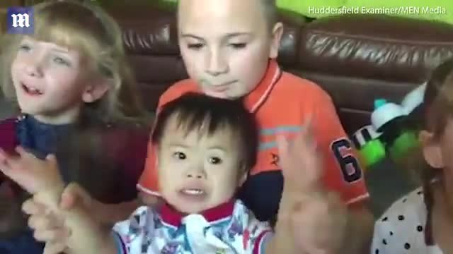 Dad adopts fifth child who has disabilities and he's raising them all on his own