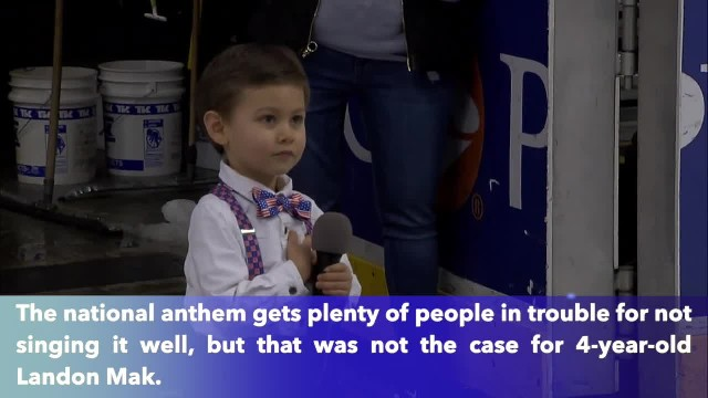 Amazing 4-year-old boy sings national anthem before the Hershey Bears hockey game