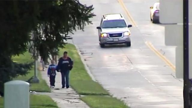She walks her son to school for hours each day Then a stranger