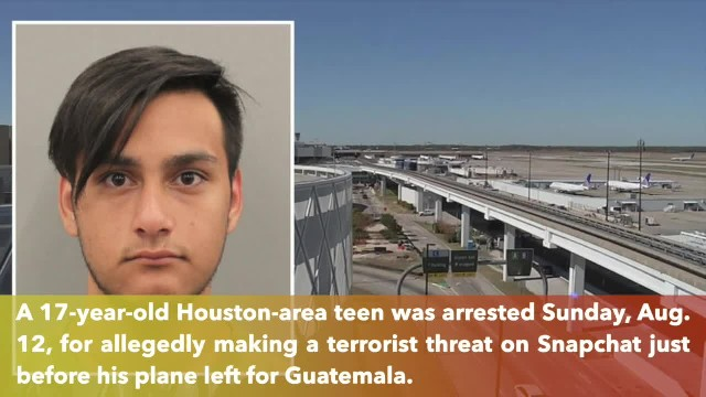 Texas teen arrested after 'blow up the plane' post on Snapchat
