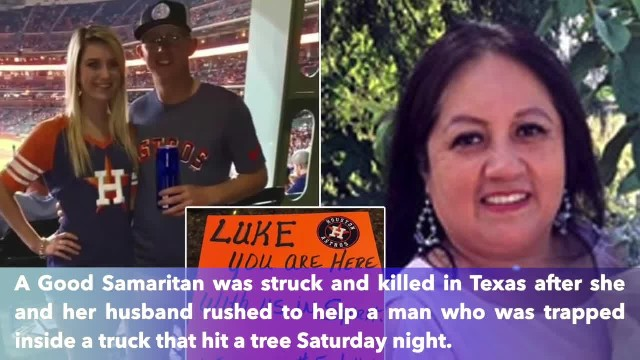Woman dies as she tries to rescue Astros fan who died in crash after watching team win