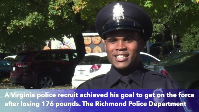 Virginia man loses 176 pounds, achieves dream of becoming police officer