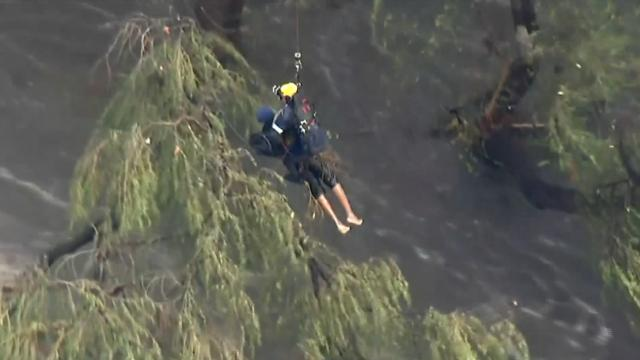 Helicopter crew in LA rescues man from river