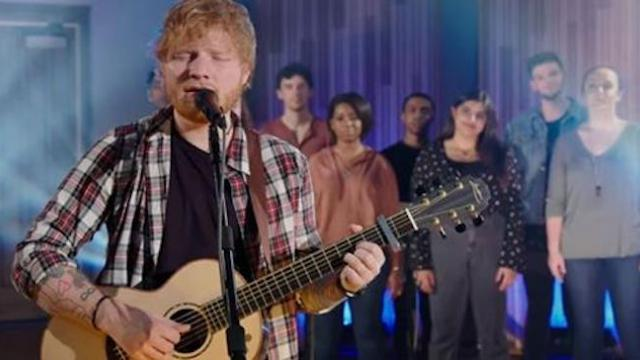 "Ed sheeran's swoon-worthy elvis tribute has internet ""falling in love."""