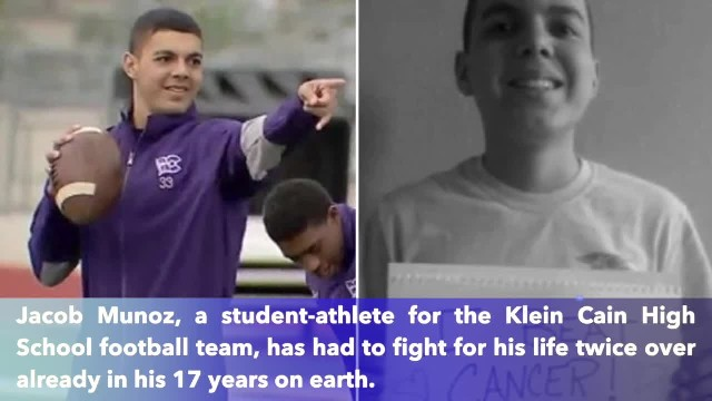 17-year-old teen who beats cancer twice returns to football field
