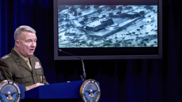 Gen. McKenzie says ISIS leader crawled into a hole with two small children and blew himself up