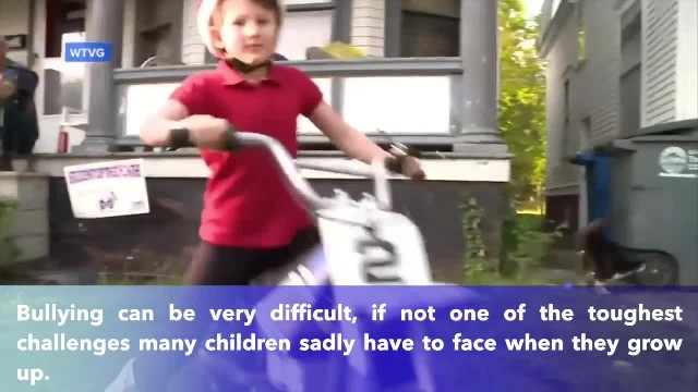 Watch how 7 YO Girl on her Tiny Dirt Bike Reacts when The REAL Bikers Show Up!