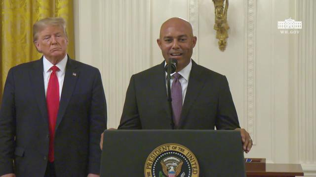 President Trump Presents the Presidential Medal of Freedom to Mariano Rivera