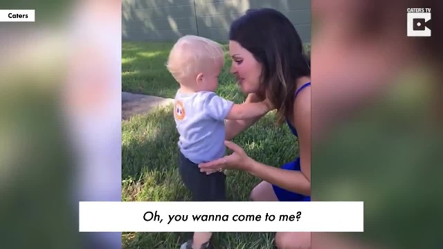 Lady With Missing Limb Tries To Fist Bump 1-Yr-Old Boy Never Anticipating Boy's Response To Make Her