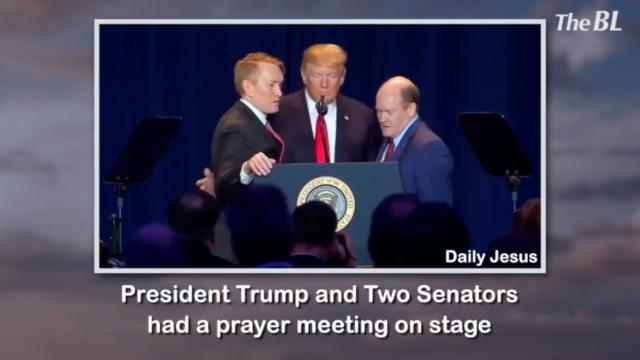 Inspiring moments during President Trump's prayer meeting