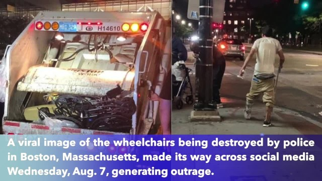 Police Destroy Wheelchairs Belonging to Homeless Residents