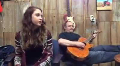 He starts playing a song from 1973, But when his daughter joins in… It's like nothing you've heard b