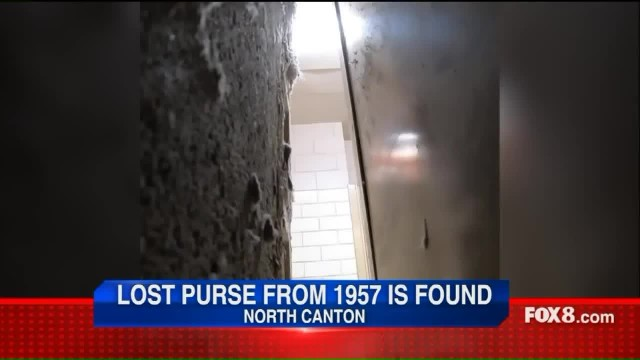 Lost purse that went missing in 1957 found wedged behind lockers more than 60 years later