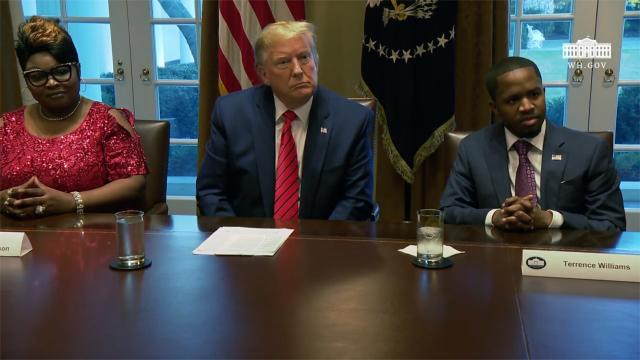 President Trump attends a meeting and photo opportunity with black leaders
