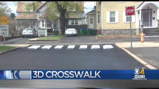 Students Hope 3D Crosswalk Encourages Drivers To Stop At School