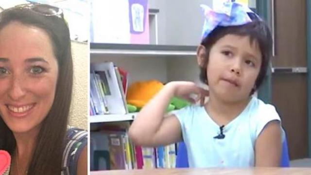 Kids poke fun of little girl's haircut so teacher hatches gutsy plan even faculty & staff can't igno