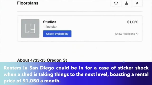 Would you pay $1,050 to live in a shed in a San Diego backyard ?