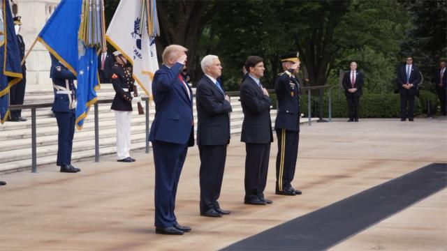 "President Trump: ""Our fallen warriors gave their last breath for our country and our freedom"""