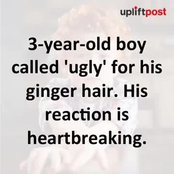 """3-year-old boy bullied for his 'horrible' hair – but his reaction breaks my heart """