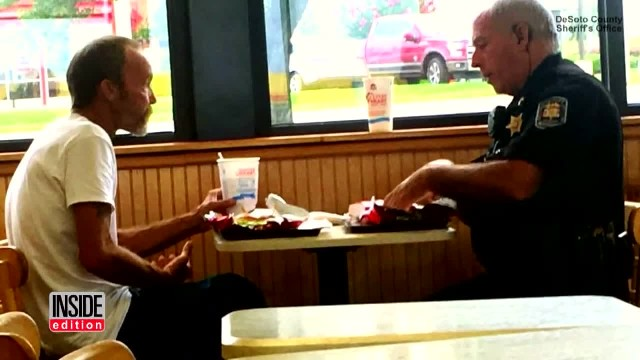 Deputy Raises Money To Get Homeless Man To Family After Sharing Meal Together (1)