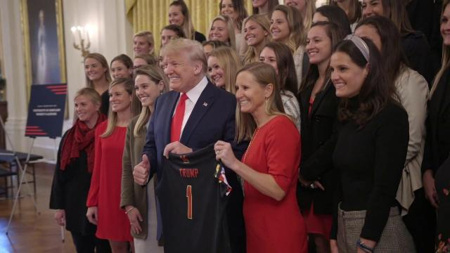 President Trump Welcomes NCAA Champions to the White House