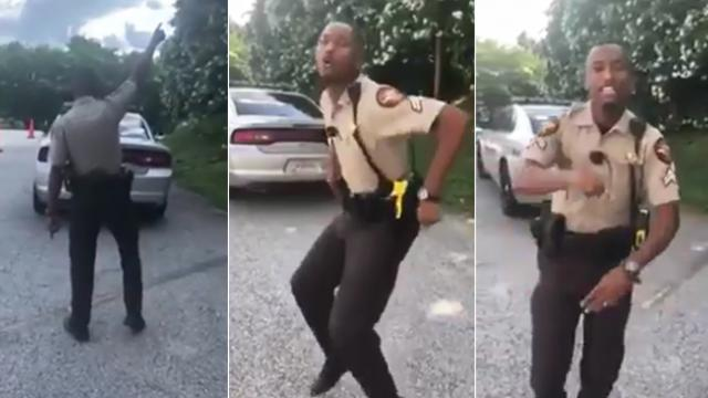 Sheriff busts out epic dance moves for Luke Bryan lip sync
