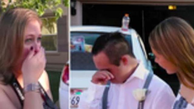 Boy with Down syndrome dateless for homecoming. Then stranger's surprise moves mom to tears