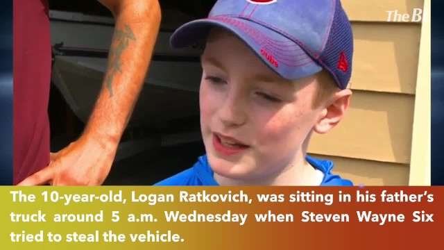 10-year-old boy saved by his armed dad
