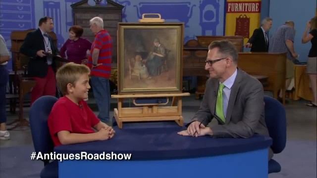 Little boy buys painting for $2. Jaw drops when told worth on 'Antiques Roadshow'